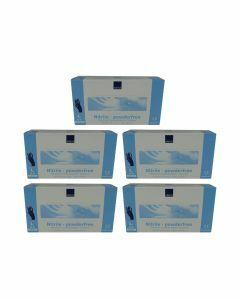 5x Abena Nitril-Handschoenen poedervrij Maat M blauw 100st
