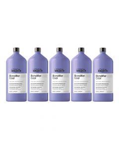10x L'Oréal Serie Expert Blondifier Shampoo Cool 1500ml