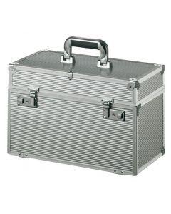 Comair Koffer aluminium met uitklapbaar front zilver 27x41 5x22 cm