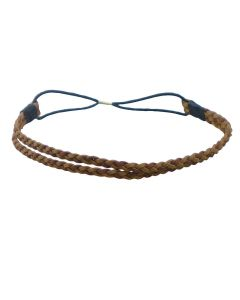 Comair Haarband dubbele vlecht bruin