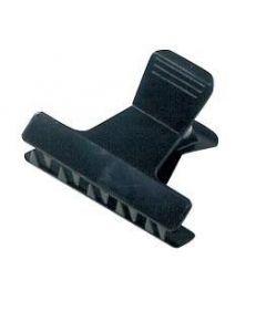 Abteilclips Kunststoff schwarz klein  12 Stk