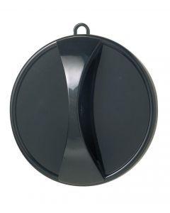 Kabinettspiegel rund schwarz  29cm