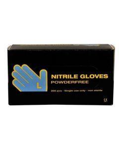 Abena Nitril-Handschoenen poedervrij maat L Blauw 10x200st.