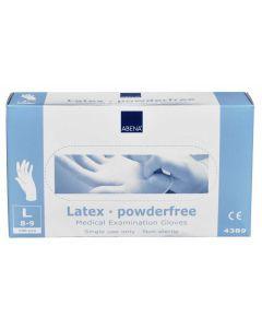 Abena Abena Latex-Handschuhe pulverfrei Größe L 100 Stk. weiss 100st