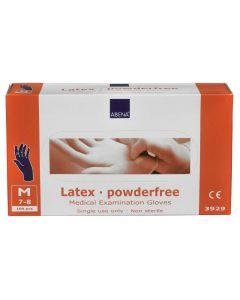 Abena Latex-handschoenen poedervrij Maat M blauw 10x100st