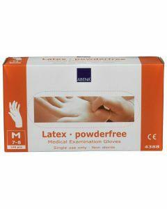 Abena Latex-handschoenen poedervrij Maat M wit 10x100st