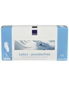 Abena Latex-handschoenen poedervrij, structuur, Maat L wit 10x100st