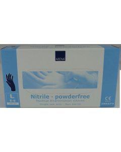 Abena Abena Nitril-Handschuhe pulverfrei Größe M 100 Stk. blau 100st