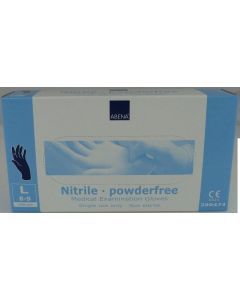 Abena Nitril-Handschoenen poedervrij Maat M blauw 10x100st