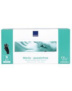 Abena Nitril-Handschoenen poedervrij Maat S zwart 10x100st