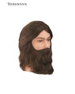 Bergmann Oefenhoofd Amigo baard lichtbruin 20cm
