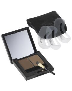 Christian Faye Wenkrbauwpoeder Duo Kit dark brown 3gr