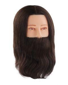 Comair Oefenhoofd Paul met baard bruin 35cm