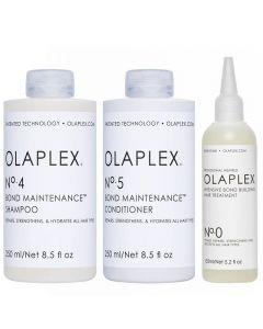 Beschadigd haar pakket Olaplex No.0 + 4 + 5