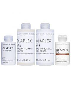Beschädigte Haarpackung Olaplex No.3 + 4 + 5 +6