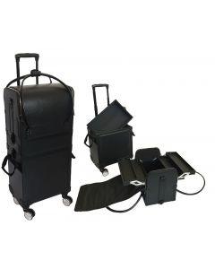 Comair Leren koffer zwart 750x360x235