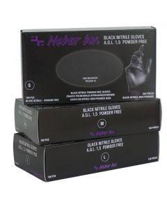 Nebur Nitril-Handschoenen poedervrij Zwart M