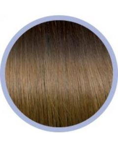 Euro So. Cap. Ombre Extensions Donker Kastanjebruin/ Blond 4-14 10x50-55cm