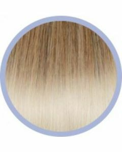 Seiseta Flat Ring-On Ombre Extensions Goud/ Platinablond DB4-1001 10x50-55cm