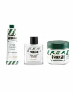 Proraso Travelset Balm, Pré & Aftershave, Scheerzeep tube