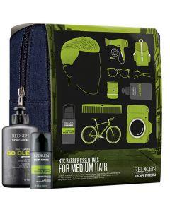 Redken For Men NYC Barber Essentials For Medium Hair 300ml+100ml