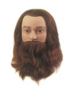 Sibel Übungskopf Leif-Classic mit Bart und Schnurrbart braun 20-25cm