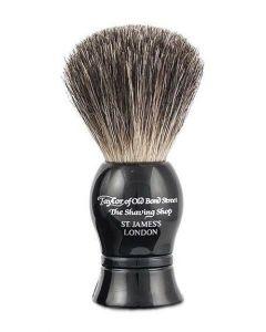 Taylor of Old Bond Street Rasierpinsel Pure Badger schwarz 9.5mm