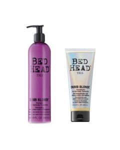 TIGI Dumb Blonde retail set (1x Shampoo + Reconstructor) 400ml+200ml