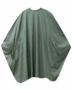 Trend-Design Kapmantel Classic button grijs 135x150cm